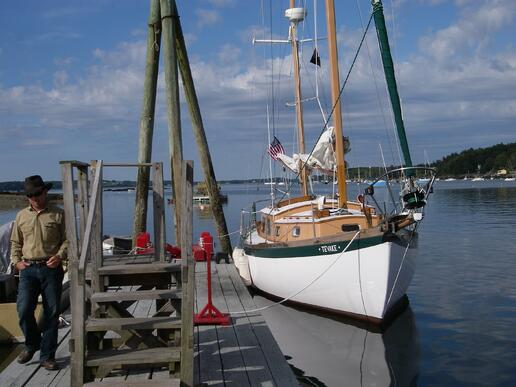 Learning how to sail in Maine